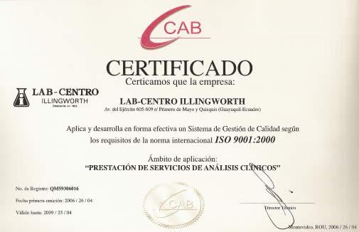 LAB-CENTRO ILLINGWORTH :: Laboratorio Clinico, Hematologia ...